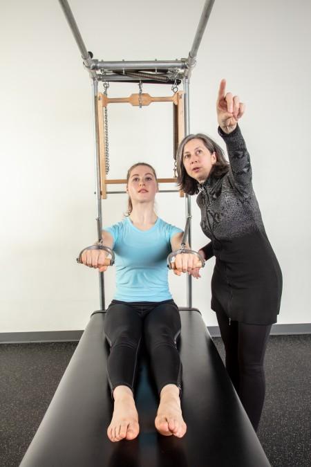 Lori Teaching Erika the Pilates Fundamentals