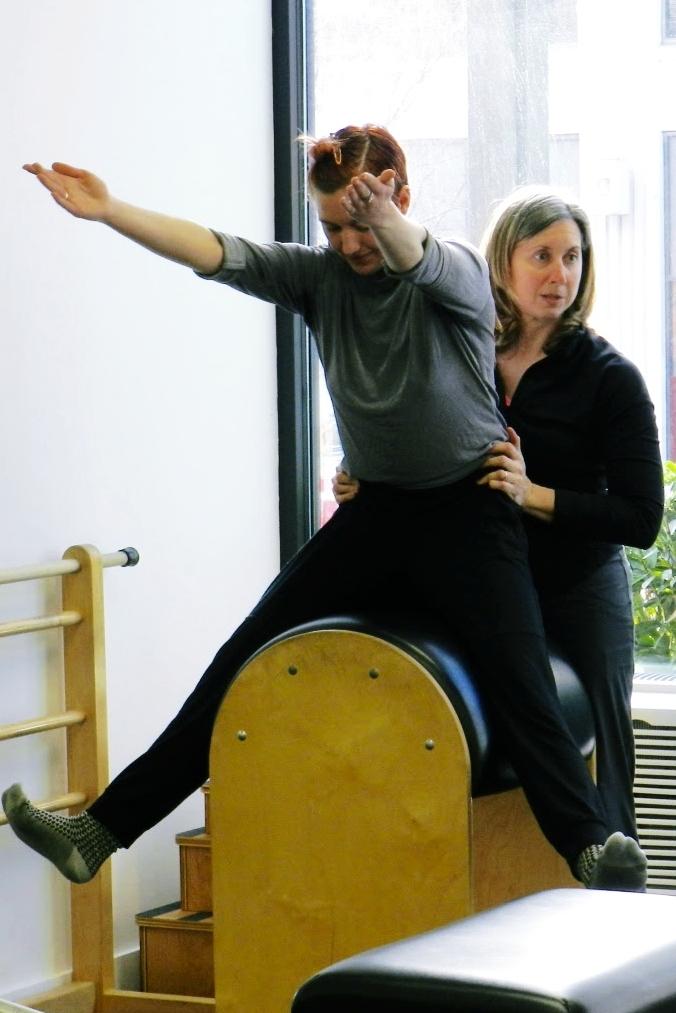 Hannah Rae demonstrates  Horseback on the Ladder Barrel