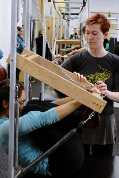 Hannah Rae Teaching Pilates