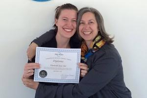 Hannah with her Atlas Pilates Diploma