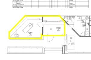 Treatment room floor plan screenshot